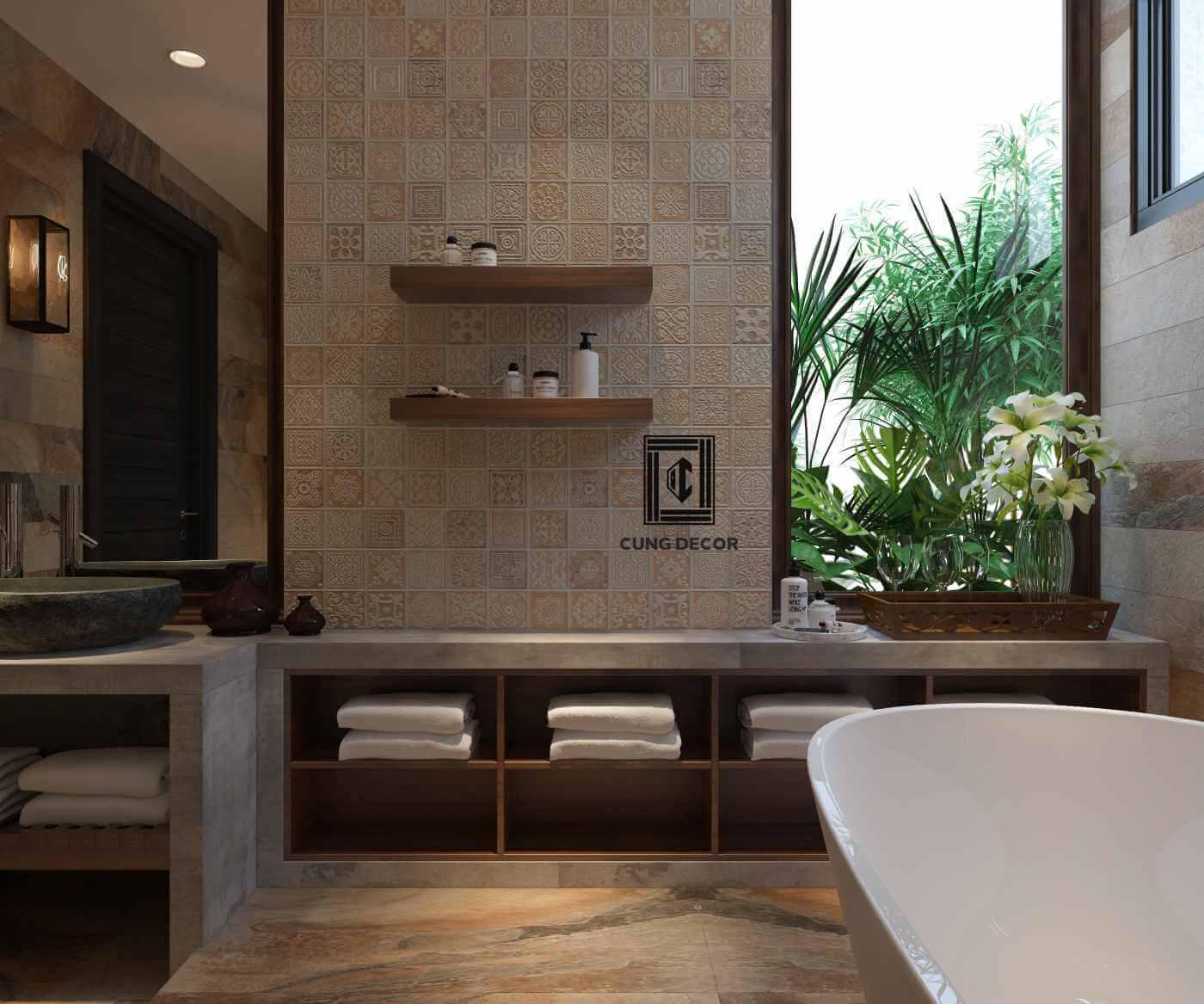 sử dụng gạch ốp lát khi thiết kế nội thất