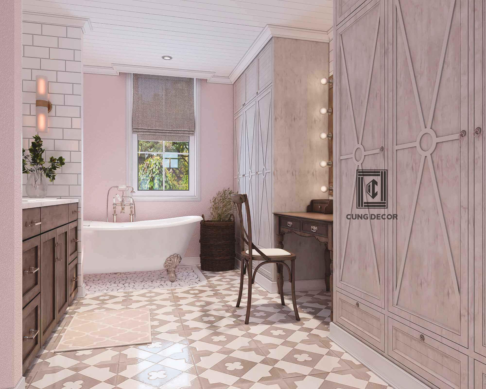 gạch lát nền phòng tắm