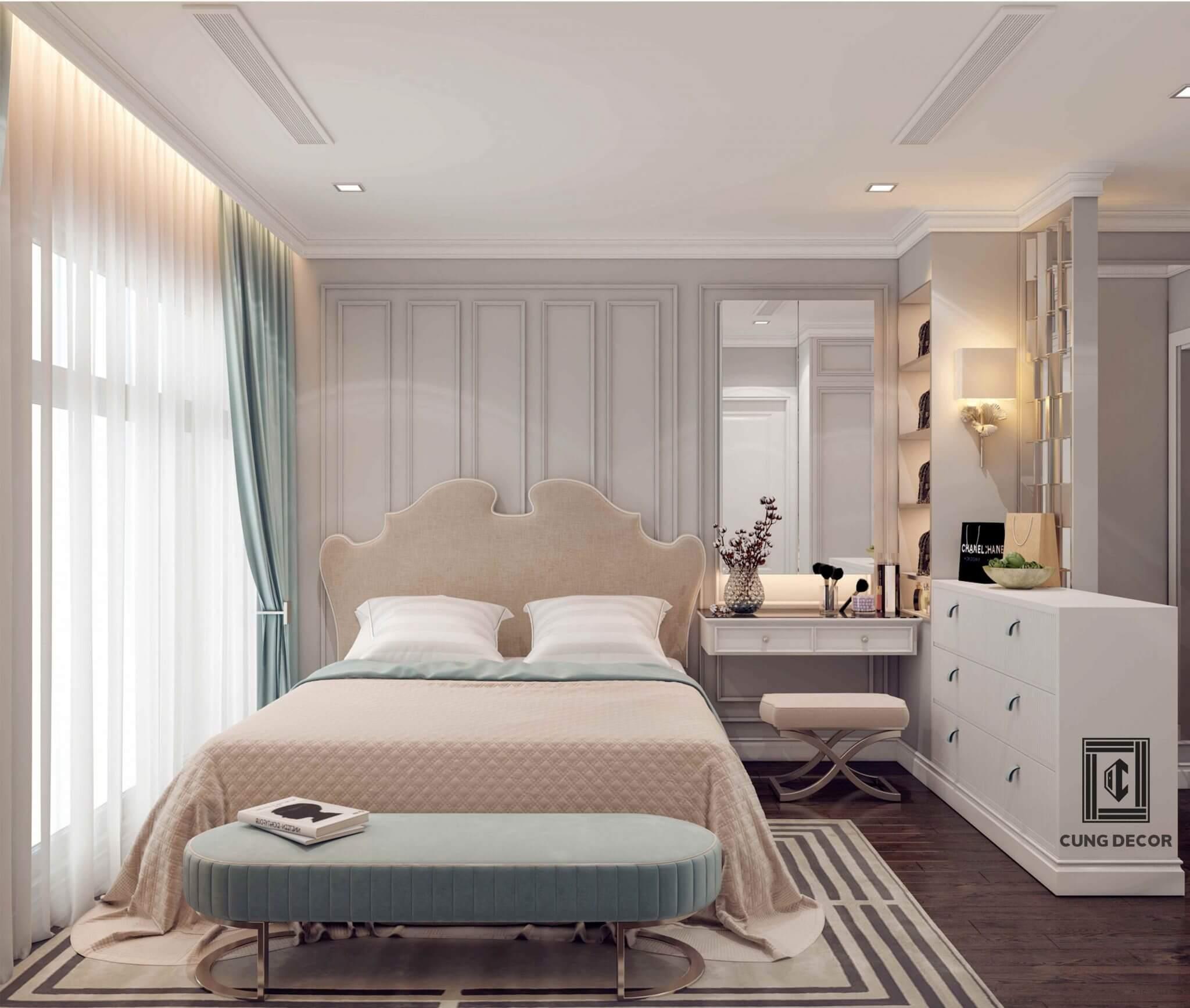 màu sơn phòng ngủ nhẹ nhàng