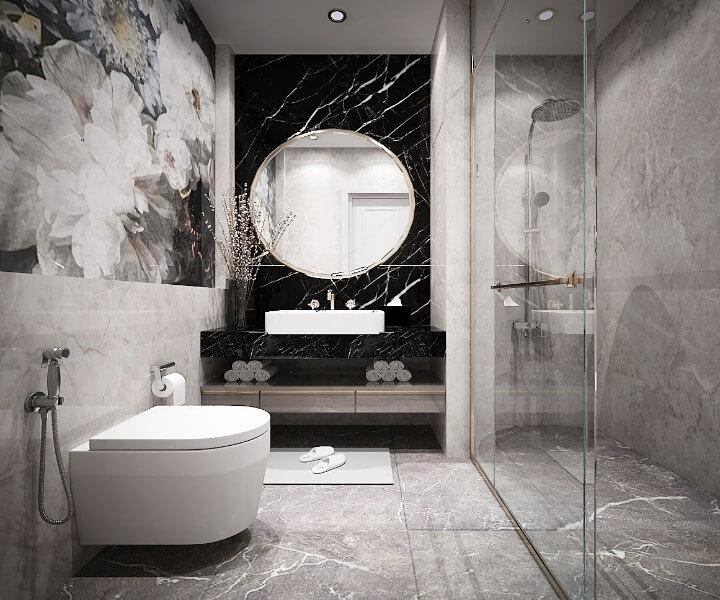 thiết kế nội thất nhà vệ sinh biệt thự