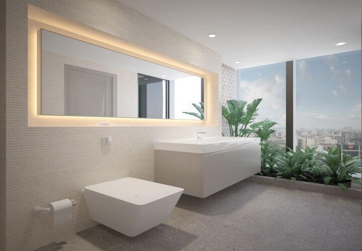 nội thất nhà vệ sinh cho căn hộ