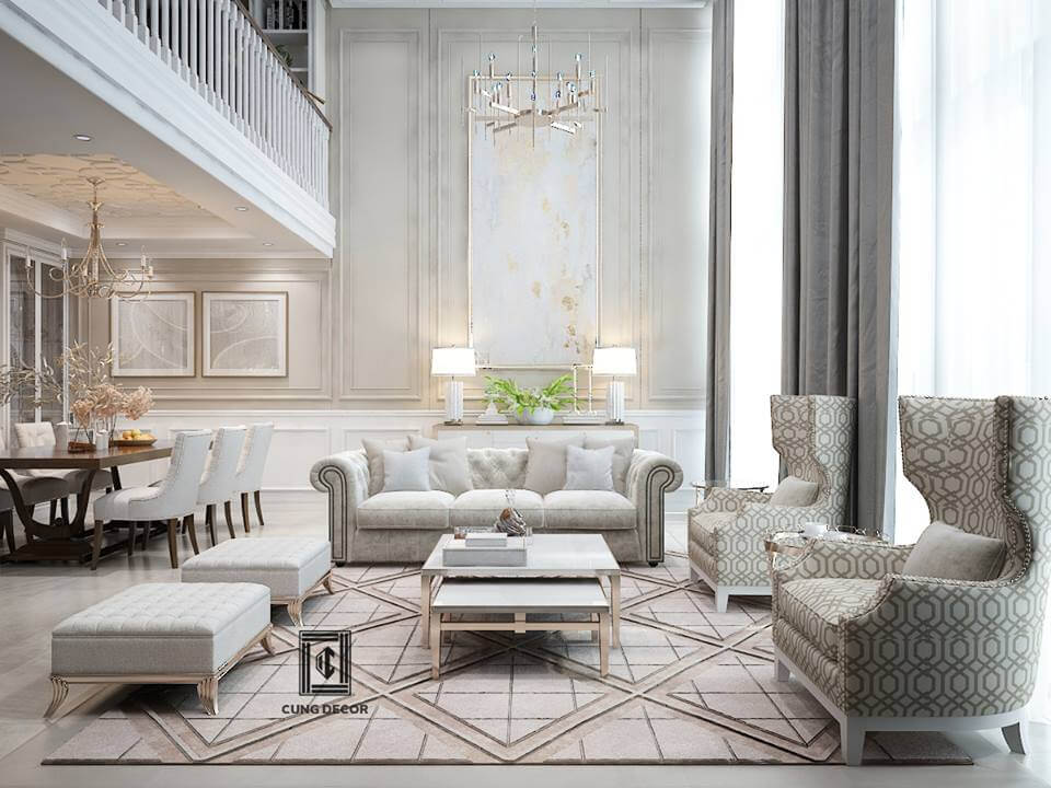 thiết kế nội thất phòng khách 1