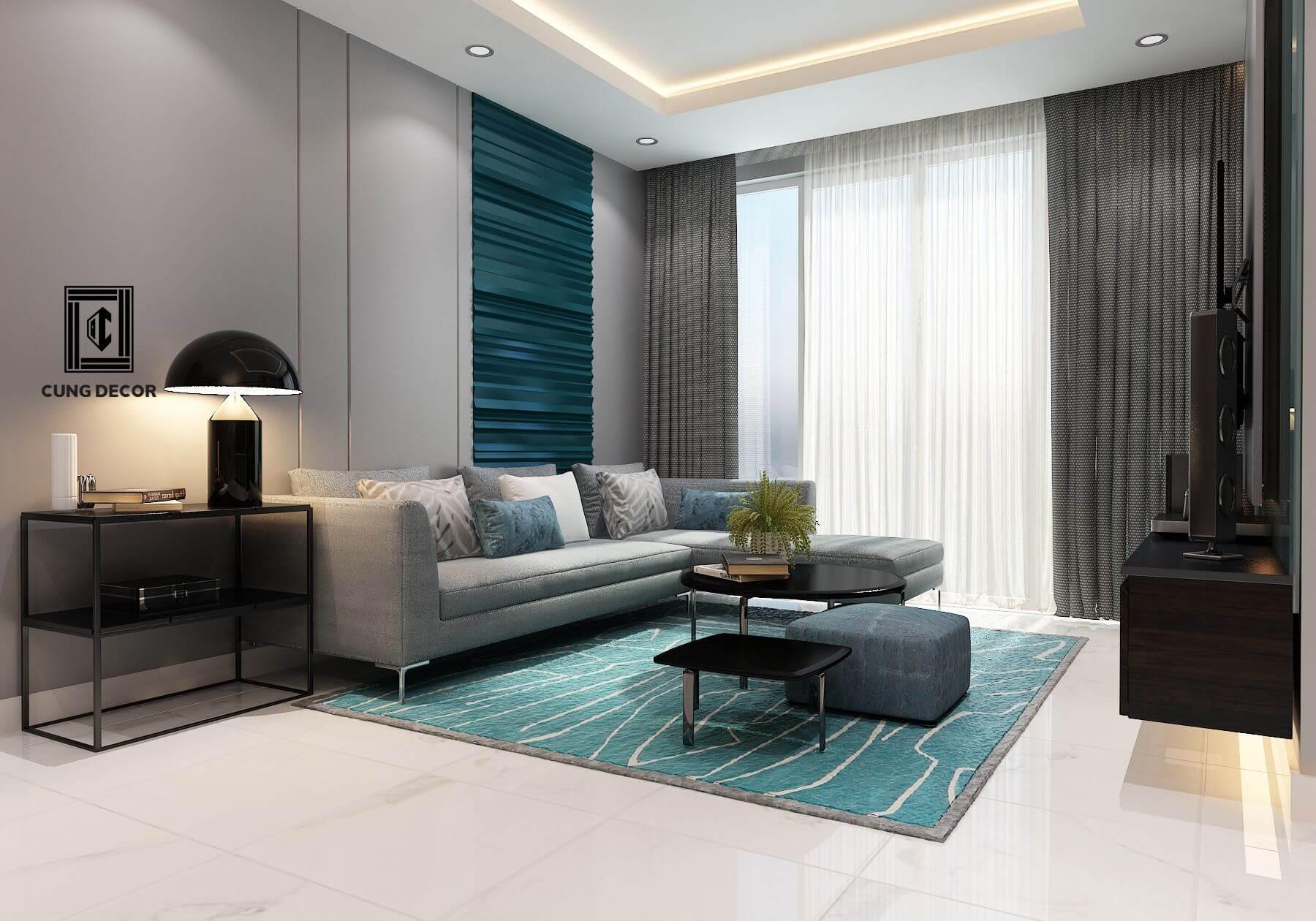 thiết kế nội thất phòng khách 3