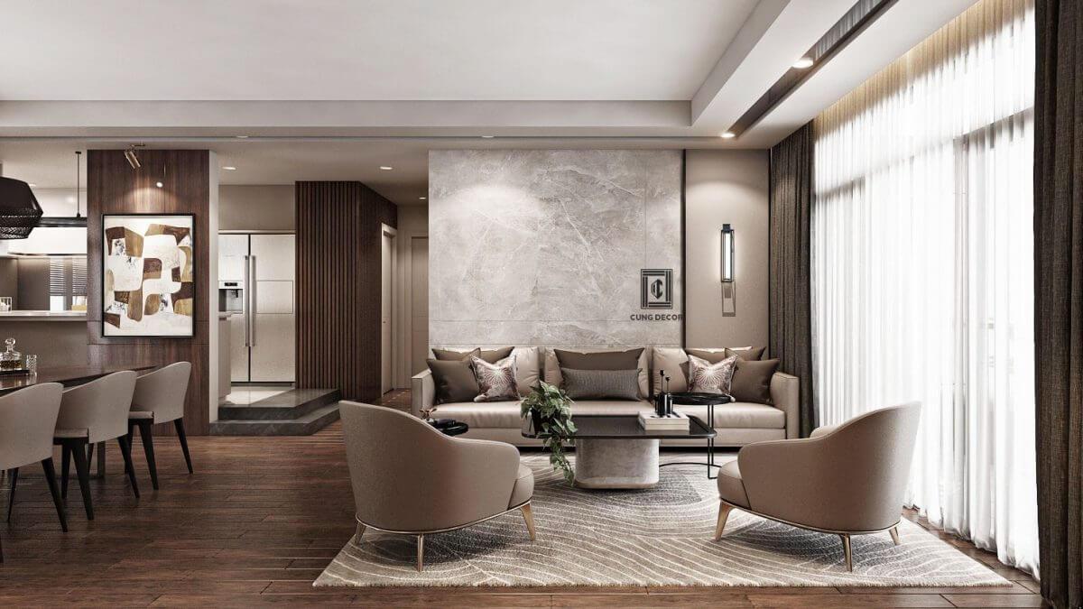 thiết kế nội thất hiện đại 1