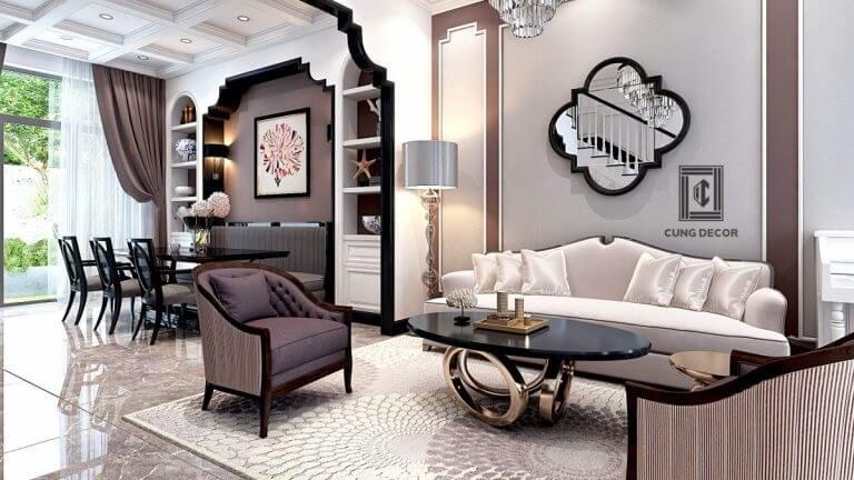 thiết kế và công nội thất biệt thự