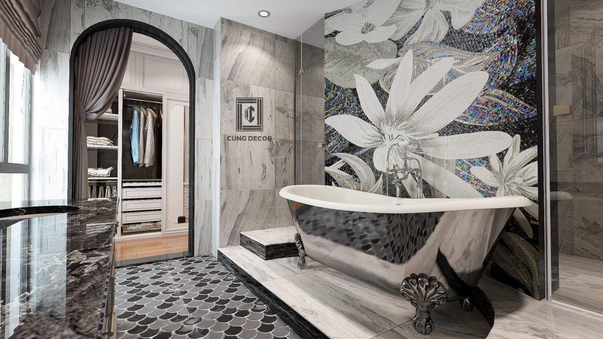 phòng tắm biệt thự sang trọng