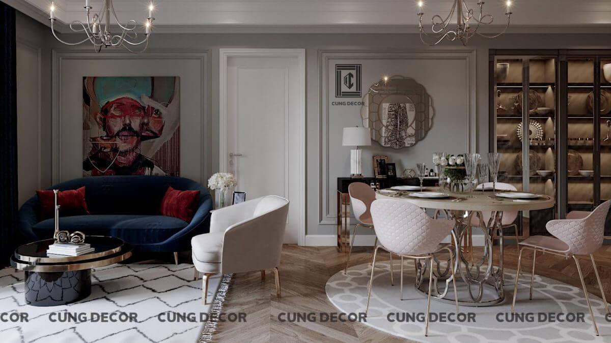 thiết kế nội thất modern classic